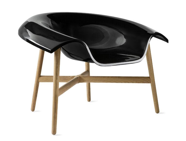 Dune medium black chair